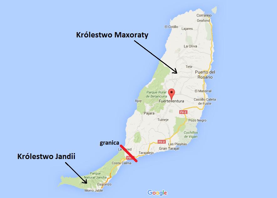 Uwaga! Mapkę zrobiłam sama przy pomocy Google Maps, więc nie możecie jej traktować jako rzetelnego źródła wiedzy historycznej ;)