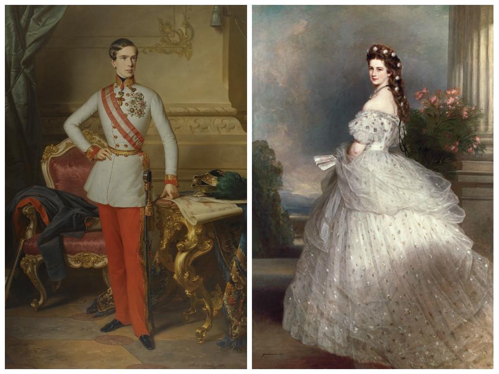 Franz Josef - najlepsza partia Europy i jego wybranka Sisi. Za taką sukienkę można by dać się pokroić!